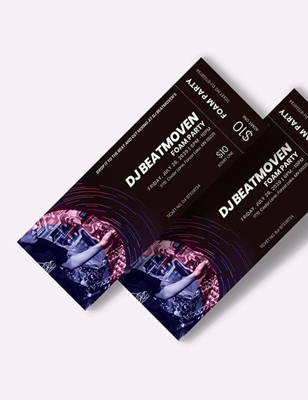 DJ Event Ticket Download
