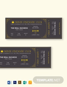 Elegant Movie Ticket Template