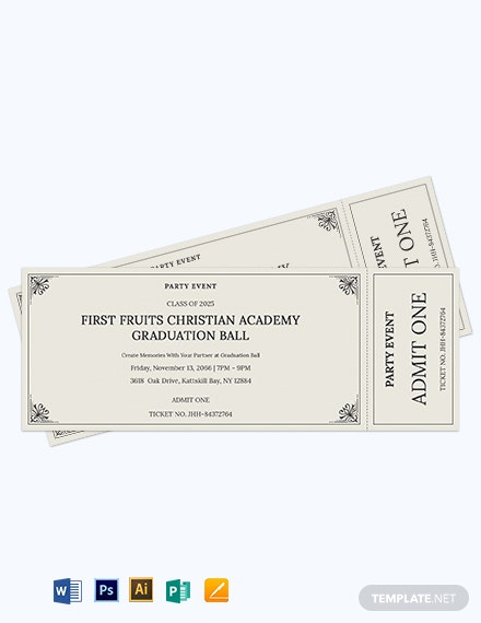 event party ticket template 2