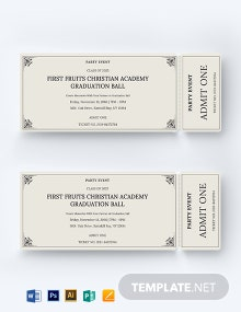 Event Party Ticket Template