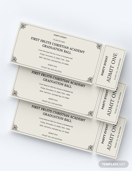 Sample Event Party Ticket
