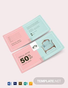 50% Discount Voucher Template