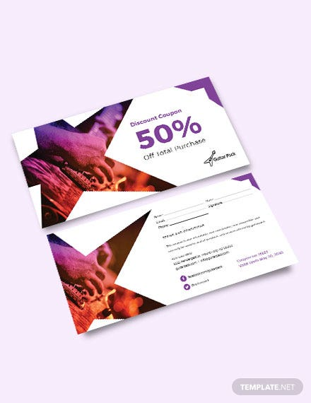 Blank Discount Coupon Template