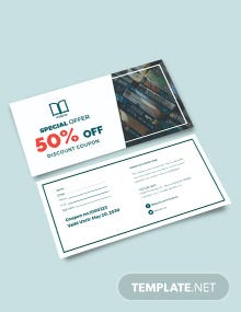 Book Discount Coupon Template