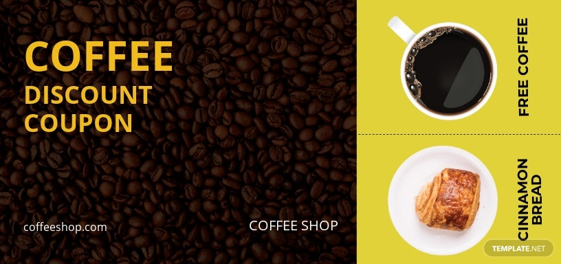 Coffee Discount Coupon template