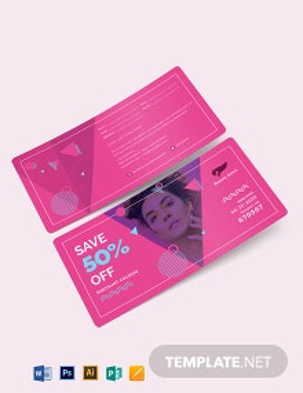 Discount Coupon Card Template