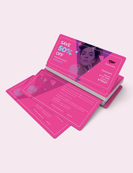 Sample Discount Coupon Card