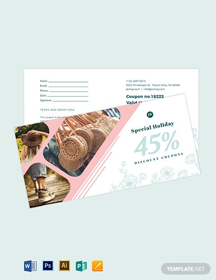 Editable Discount Coupon Template