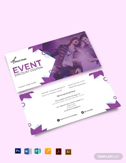 Event Discount Coupon Template