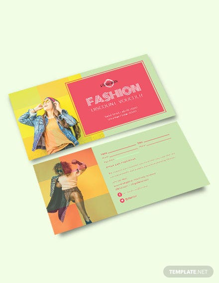 Download Fashion discount Coupon template