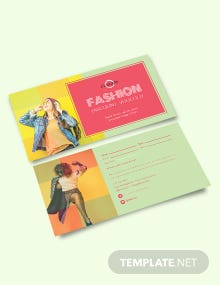 Fashion Discount Coupon Template