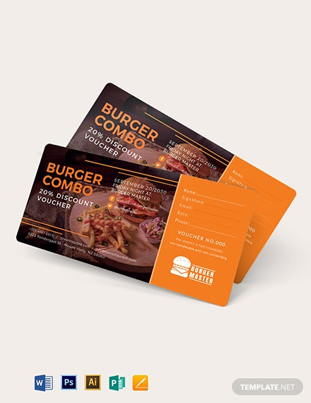 20%  Discount Voucher Template