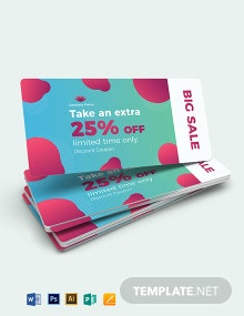 Printable Discount Coupon Template