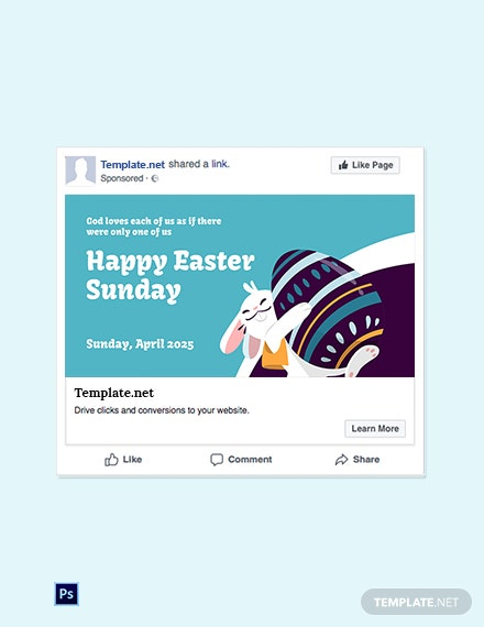 Free Facebook Easter Sunday Template