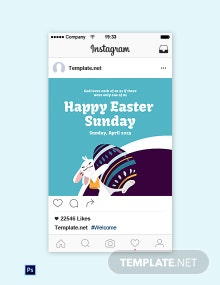 Free Instagram Easter Sunday Template