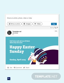 Free Linkedin Easter Sunday Template