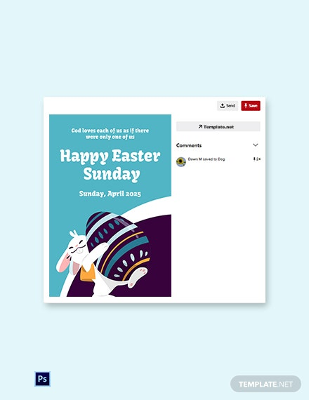 Free Pinterest Easter Sunday Template