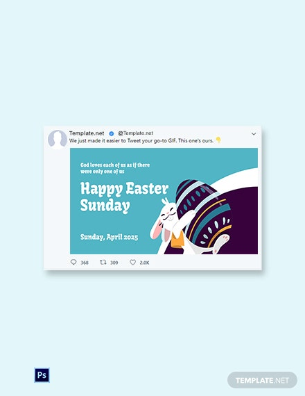 Free Twitter Easter Sunday Template