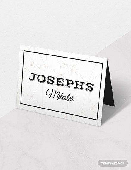 Free D&U Wedding Place Card Template
