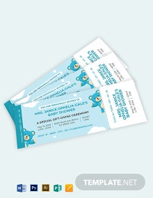 Baby Shower Ticket Invitation Template