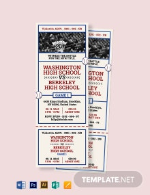 Baseball Ticket Invitation Template