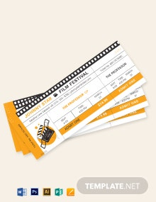 Blank Movie Ticket Template