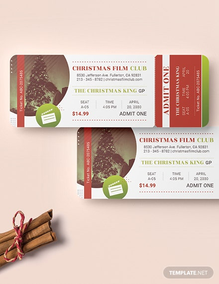 Sample Christmas Movie Ticket