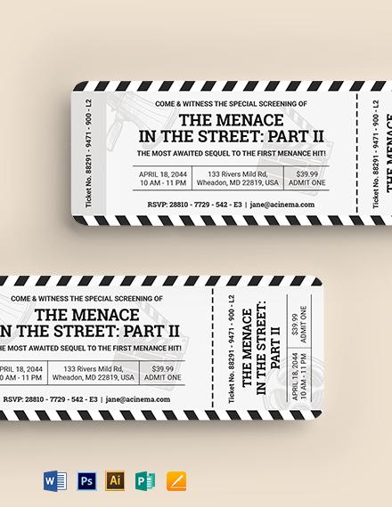 Cinema Ticket Invitation Template