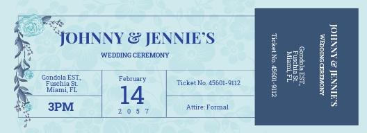 Creative Wedding Ticket Template