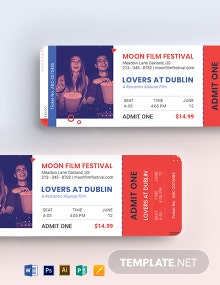 Date Night Movie Ticket Template