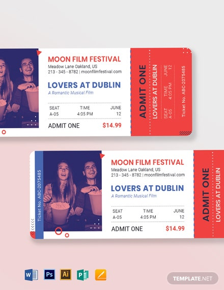 date night movie ticket template 4