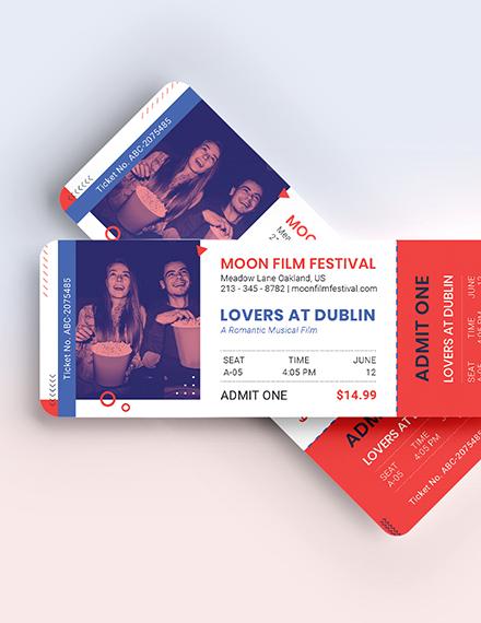 Sample Date Night Movie Ticket