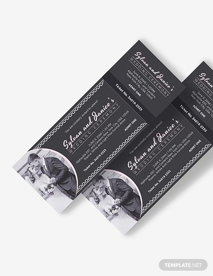Elegant Wedding Ticket Download