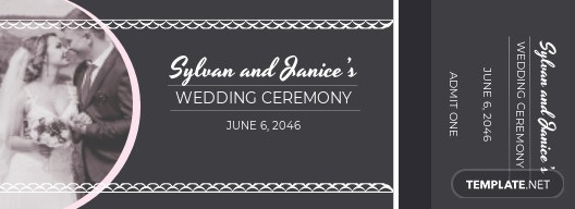 Elegant Wedding Ticket Template