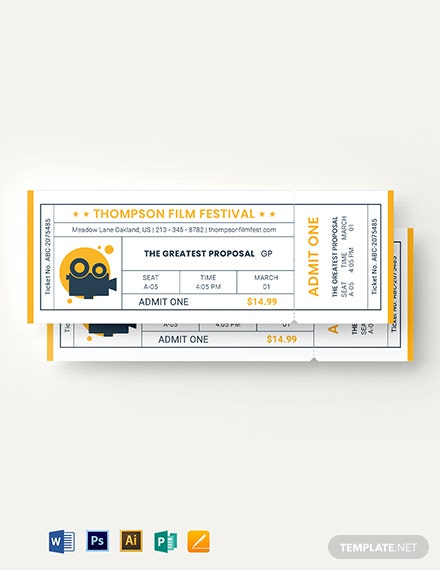 minimal movie ticket template 2