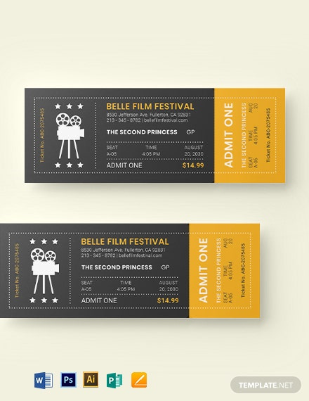 movie night ticket template 1