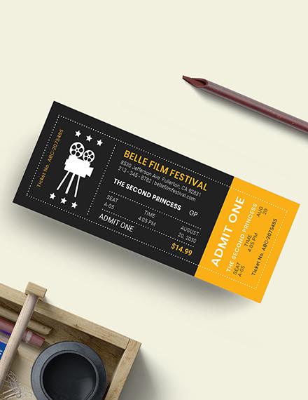 Sample Movie Night Ticket