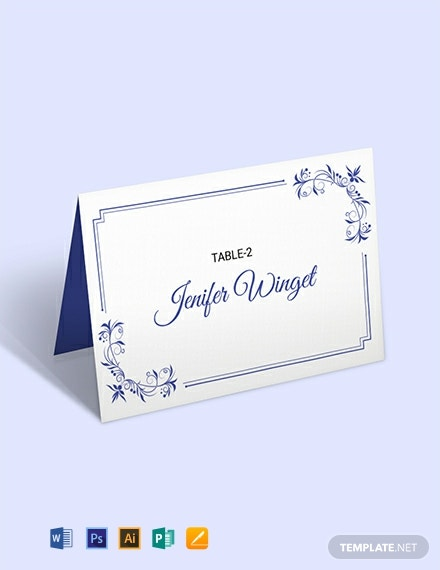 10+ FREE Place Card Templates - Word (DOC) | PSD ...