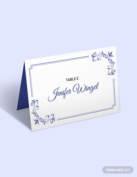 Free Delicate Lace Place Wedding Place Card Template