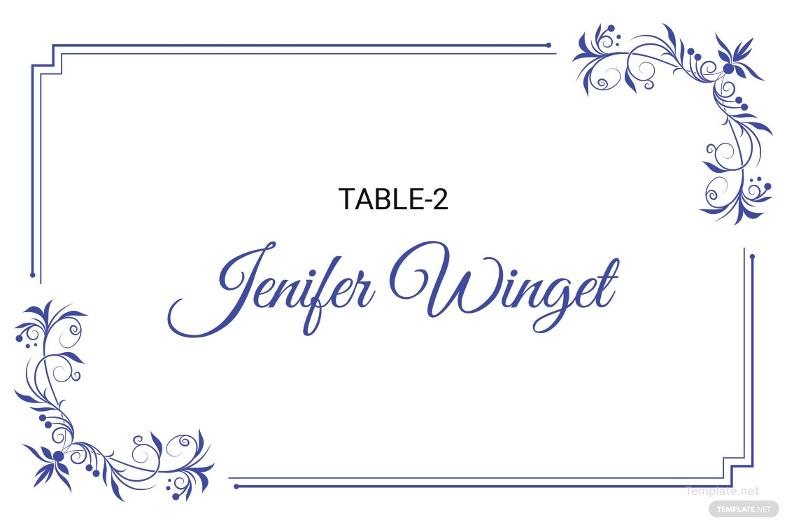 free delicate lace place wedding place card template in