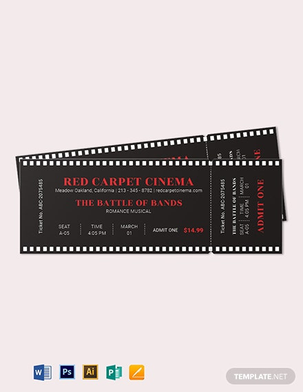 simple movie ticket template 2