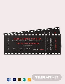 Simple Movie Ticket Template
