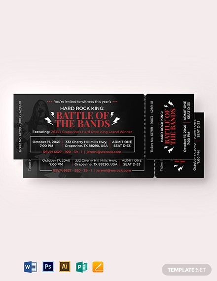 Simple Ticket Invitation Template