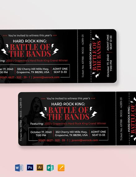 Simple Ticket Invitation Template