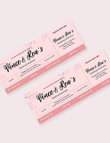 Simple Wedding Ticket Download