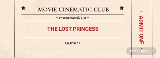 Vintage Movie Ticket Template