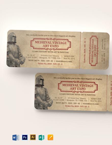 Vintage Ticket Invitation Template