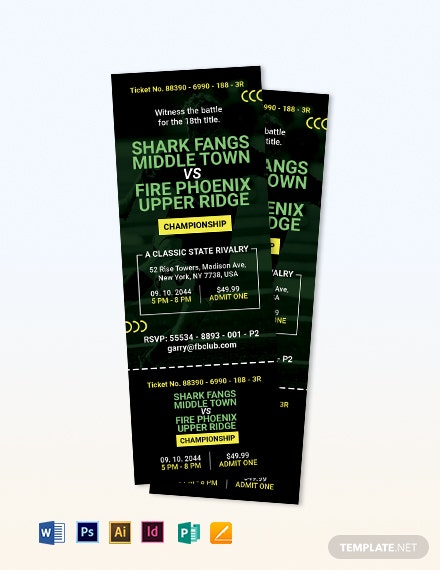 soccer game ticket invitation