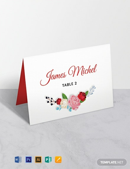 image relating to Free Printable Wedding Place Cards identify 12+ Totally free Point Card Templates - Term PSD InDesign