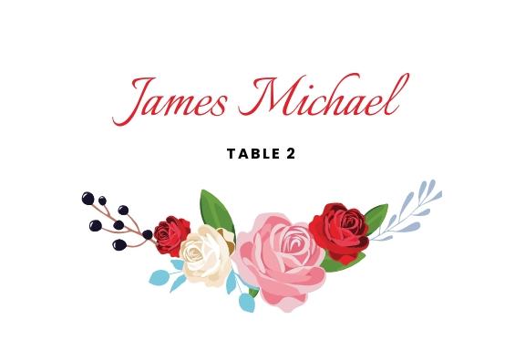 Escort Wedding Place Card Template